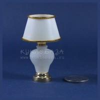 Лампа настольная с матовой стеклянной ножкой беспроводная