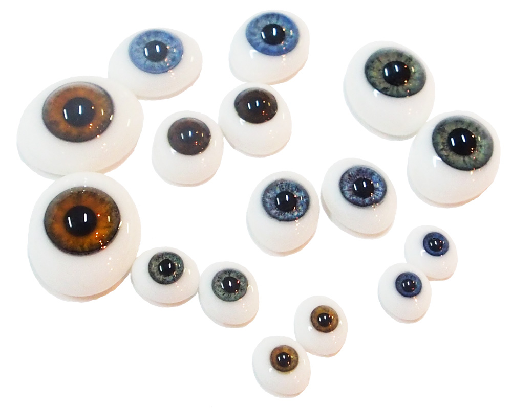 Глаза стеклянные овальные (рыбки)